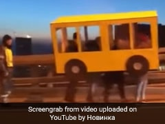 4 Men Dress Up As Bus To Cross Vehicle-Only Bridge. Watch Hilarious Video