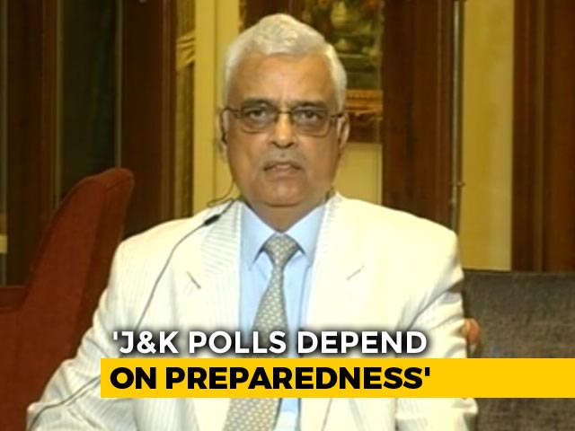 Video : Premature To Forecast J&K Poll Dates: Chief Election Commissioner To NDTV