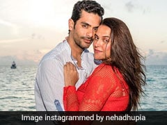 Neha Dhupia And Angad Bedi Celebrated Second Anniversary In Quarantine With Two Cakes
