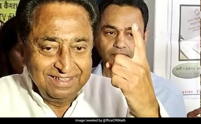 Kamal Nath Shows Palm After Voting, BJP Says Poll Violation