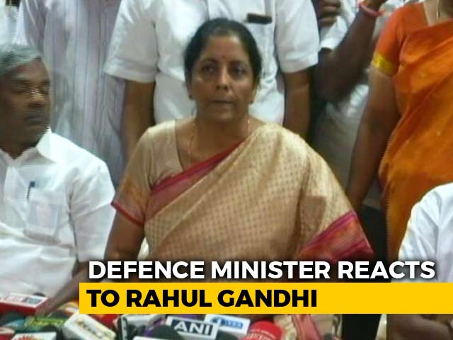 "Video : Nirmala Sitharaman Attacks Congress, Says Rahul Gandhi Is ""Confused Man"""