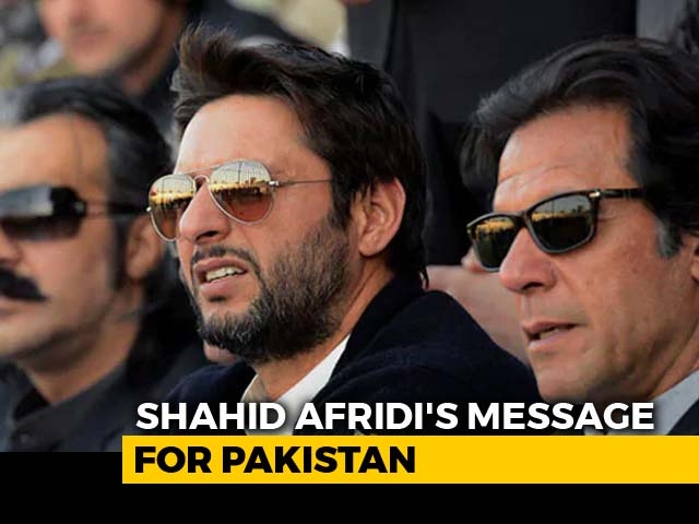 "Video : ""Pakistan Can't Even Manage Its 4 Provinces"": Shahid Afridi On Kashmir"