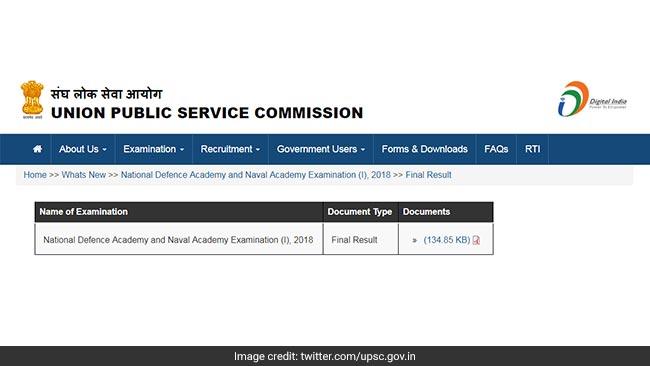 upsc, nda, upsc.gov.in, result