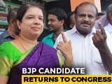 Video : BJP Candidate's Dizzying Return To Congress Helps HD Kumaraswamy's Wife