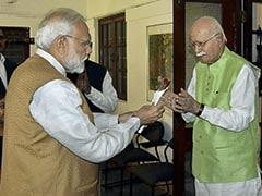 PM Modi Visits LK Advani To Wish Him Birthday, Gifts Him Flower