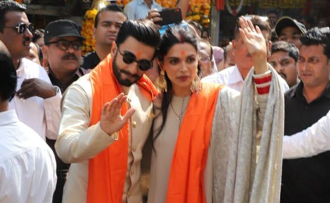 Deepika Padukone And Ranveer Singh Visit Siddhivinayak Temple After Mumbai Reception