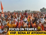 Video : At Ayodhya Rally, Calls For Ordinance To Fast-Track Ram Temple
