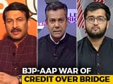 Video : Manoj Tiwari-AAP Face-Off Over Violence At Delhi Bridge Opening