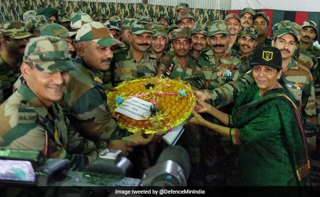 Defence Minister Celebrates Diwali With Army In Arunachal Pradesh