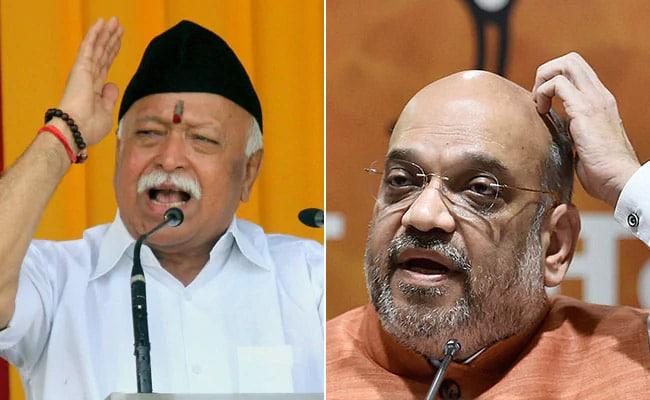 अमित शाह और मोहन भागवत की मुलाकात : RSS ने सरकार से कहा- जमीन का अधिग्रहण कर राम मंदिर बनाए