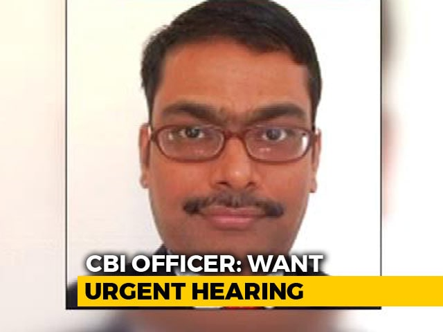 "Video : ""A Few Crores Was Paid To Minister"": Transferred CBI Officer's Petition"