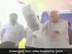 Watch: Karnataka Minister, In A 'Hurry', Throws Kits At Sportspersons