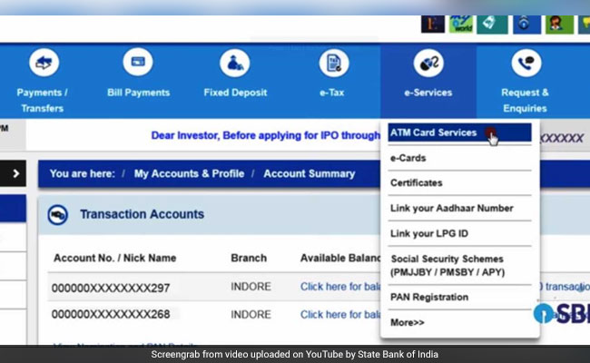 SBI Online: How To Activate New SBI ATM Card, Register