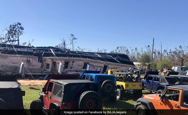 House Tipped Over By Hurricane Gets Flipped Right Back Up With Jeeps