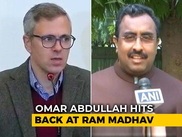 "Video : ""Instructions From Pak"" Dig Sparks Omar Abdullah-Ram Madhav Twitter Fight"