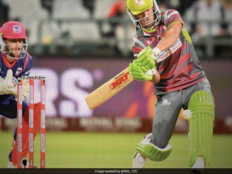 AB De Villiers Plays Switch Hit To Perfection In Mzansi Super League Fans Love It Watch Video