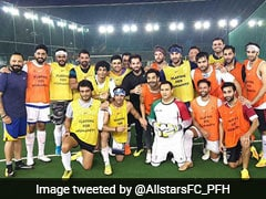 MS Dhoni Joins Ranbir Kapoor, Abhishek Bachchan For Football Match