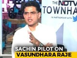 Video : She Stood Up To Amit Shah: Sachin Pilot Praises Rival Vasundhara Raje
