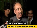 "Video : ""Got A Suggestion Only"": Ghulam Nabi Azad Dashes Mehbooba Mufti's Claim"