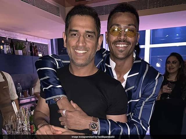 MS Dhonis Bromance With Hardik Pandya Grabs Attention At Wife Sakshis Birthday Bash