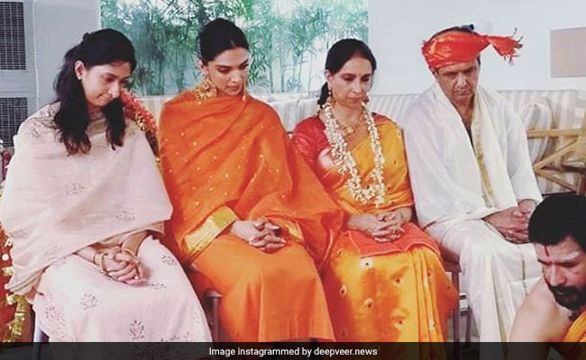 This Pic Of Deepika Padukone And Family At Pre Wedding Puja Is Going