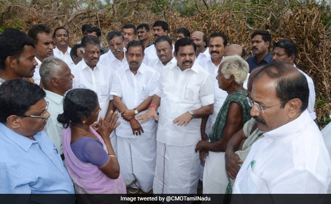 E Palaniswami Visits Cyclone Gaja-Hit Areas Amid Demands For More Help