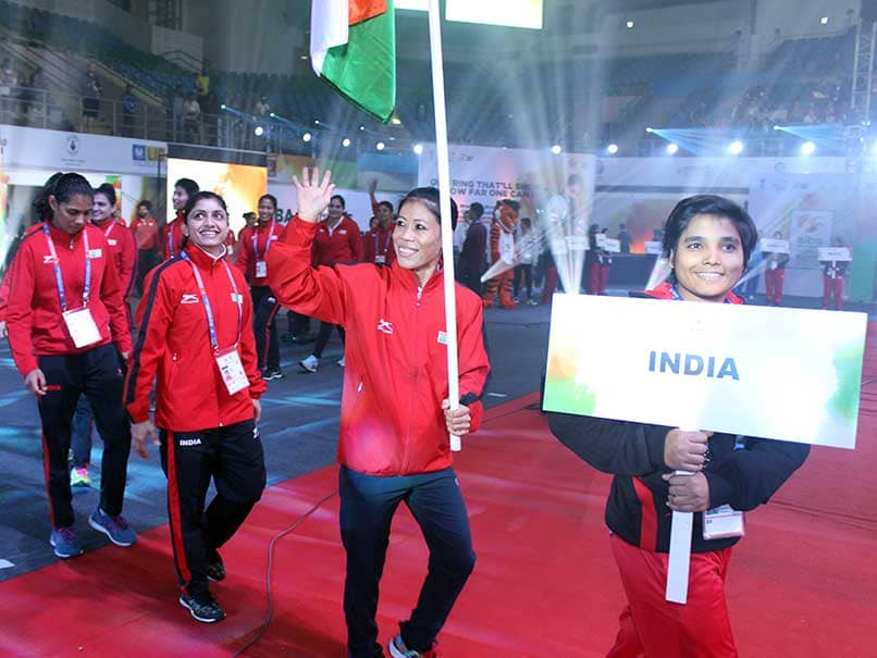 Womens World Boxing Championships: Mary Kom Leads Indian Contingent At Opening Ceremony. In Pictures