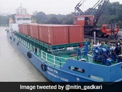 India's First Inland Vessel, With Cargo Of 16 Trucks, Heads For Varanasi
