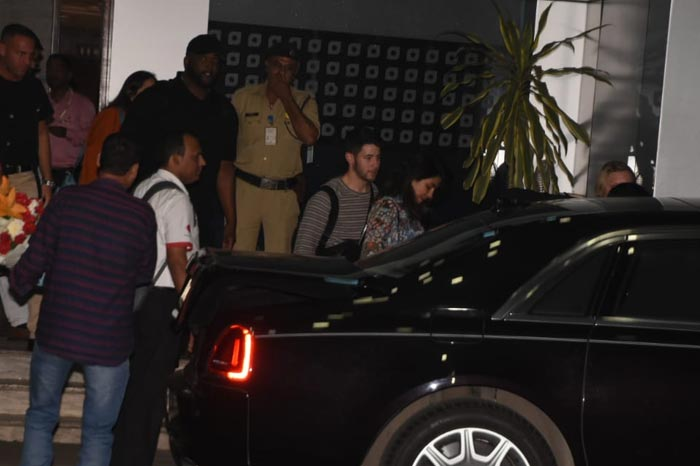 Priyanka Chopra Nick Jonas Touch Down In Mumbai Ahead Of Wedding