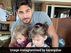 Sidharth Malhotra Spends Time With Karan Johar's Twins Yash And Roohi. See Pics