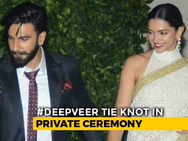 Video : Just Married, Deepika And Ranveer. '<i>Badhai Ho</i>', Tweets Bollywood