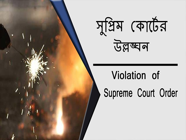 Video : দিল্লিতে সুপ্রিম কোর্টের আদেশ অমান্য করেই চলল বাজি ফাটানো