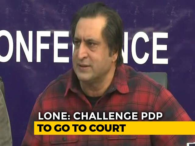 "Video : ""Let Mehbooba Mufti Go To Court"": Sajad Lone Sure Of Numbers In House"