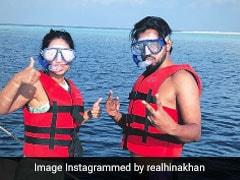 Inside Hina Khan And Boyfriend Rocky Jaiswal's Maldives Vacation