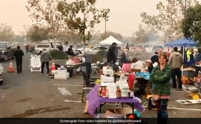 Walmart Parking Lot Turns Shelter For California Wildfire Evacuees