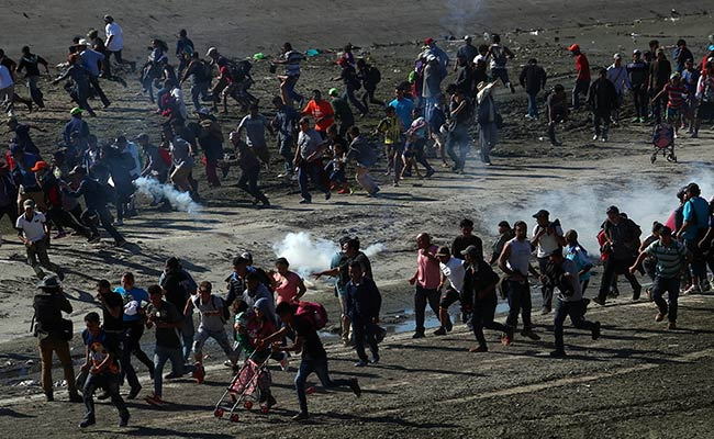 Scenes Of Children Choking On Tear Gas As US Migrant Crisis Escalates
