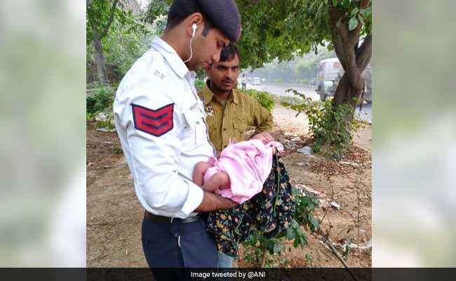 Delhi Traffic Cops Rescue Abandoned Newborn, Dogs Were Roaming Nearby