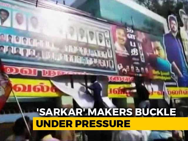 Video : Tamil Film's Makers Give In To AIADMK 'Sarkar', Make 4 Cuts