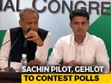 Video : Sachin Pilot, Ashok Gehlot Will Both Contest Rajasthan Polls, Deny Rift
