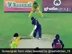 Rashid Khan के हेलीकॉप्टर शॉट से उड़े पाक खिलाड़ी के होश, सहवाग ने बजाई तालियां, देखें VIDEO