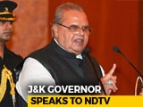 "Video : J&K Set For Polls As Governor Stops ""Horrible"" Claims To Power"