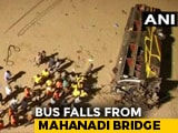 Video : 12 Dead As Bus Falls Off Bridge After Colliding With Buffalo In Cuttack