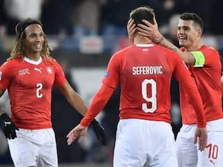 Haris Seferovic Hat-Trick Helps Switzerland Stun Belgium In Nations League
