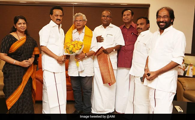 'We're With DMK For 2019 Polls': Sitaram Yechury After Meeting MK Stalin