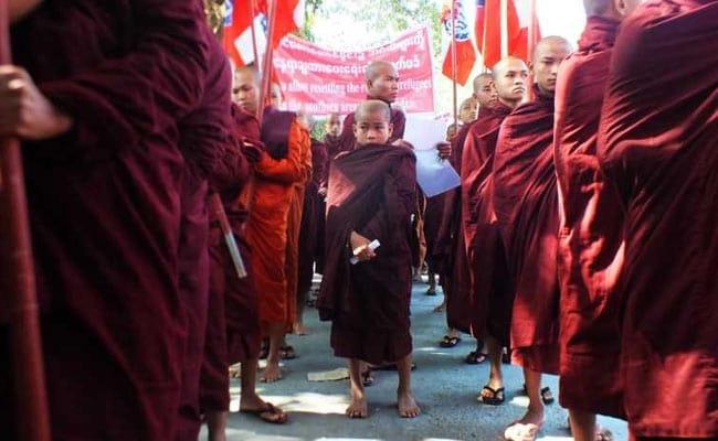 Protests In Myanmar's Rakhine State Opposing Rohingya Return