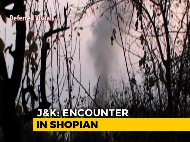 Video : Soldier Killed In Encounter In Kashmir's Shopian, 4 Terrorists Shot Dead