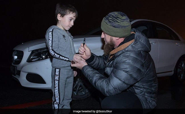 Image result for five-year-old-boy-ramzan-kadyrov-4-105-press-ups-