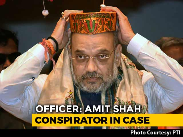"Video : Amit Shah Among ""Principal Conspirators"" In Tulsiram Prajapati Case: Cop"