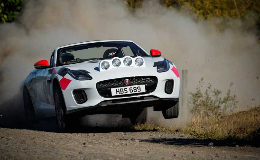 Both rally-specification F-Type Convertibles are powered by Jaguar's 2.0-litre petrol engine