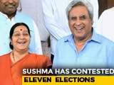 "Video : ""Madam, Thank You"": Sushma Swaraj's Husband On Her 2019 Polls Reveal"